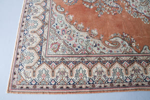 Vintage Turkish Isparta Rug 7ftx10ft