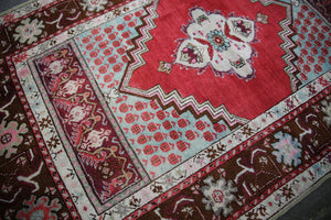 Vintage Anatolian Kirsehir Rug inspired by Transylvanian Style 3.7x5.9ft