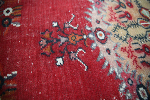 Vintage Faded Anatolian Turkish Rug 3.4ft x 6.7ft
