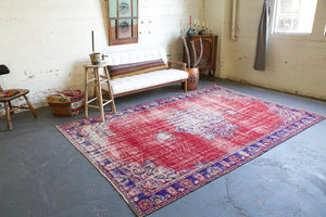 Old Demirci Oushak Rug 7ftx10.3ft