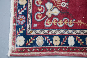 Vintage Turkish Anatolian Rug 3.2ftx5.4ft
