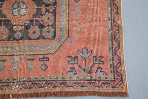 Old Konya Sille Turkish Runner Rug 3.4ftx10ft