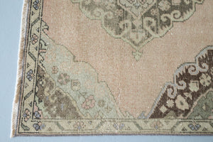 "Vintage Konya Sille Turkish Runner Rug 3'10""x11'8"""