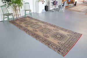 Konya Sille Turkish Runner Rug 4.4ftx10.10ft