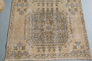 Old Konya Sille Turkish Runner Rug 3.3ftx10.7ft