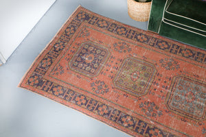 Old Konya Sille Turkish Runner Rug 4.1ftx11.3ft