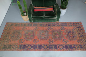 Old Konya Sille Turkish Runner Rug 4.2ftx11.4ft