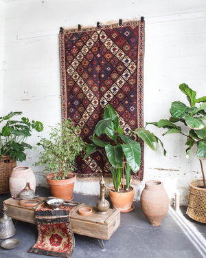 old rug, antique rug, earthy colors, bold colors, turkish rug, vintage rug, flat weave, kilim rug, large area rug, square rug, Wild Shaman, Portland, Oregon, rug store, rug shop, local shop