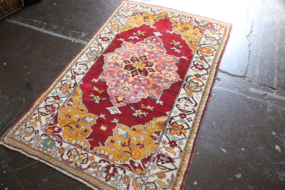 Old Turkish Milas Rug 4.8ftx6.5ft