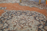 Vintage Turkish Isparta Rug 7ftx11ft