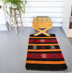 Vintage Mini Turkish Kilim Rug 2.6ftx4ft