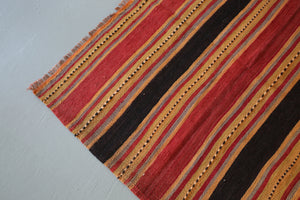 Vintage Mini Turkish Kilim Rug 3.10ftx7ft