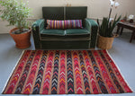 Vintage Mini Turkish Kilim Rug 3.6ftx6ft