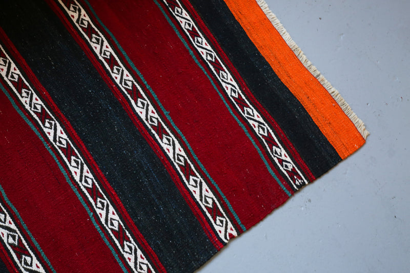 Vintage Mini Turkish Kilim Rug 2.8ftx4.8ft