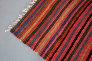 Vintage Mini Turkish Kilim Rug 3ftx7.7ft