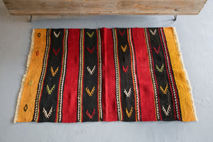Vintage Mini Turkish Kilim Rug 2.6ftx3.10ft