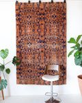 Vintage art deco rug in a living room setting, pile rug, Turkish rug, custom rug, modern rug, art deco rug,  portland, rug shop, bright colors, wild shaman, low pile rug, bold color, Portland, Oregon, rug store, rug shop, local shop, made in Turkey, vintage rug, retro rug