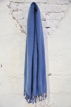 Handwoven Sabah Pestemal Towel in Blue (soft)