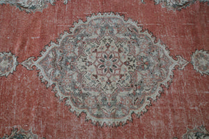 Vintage Turkish Isparta Rug 6.7ftx10.9ft