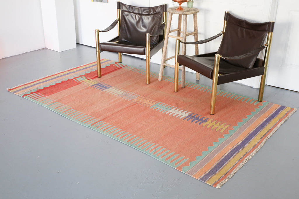 Old Bodrum Bos Kilim 4.8x8ft