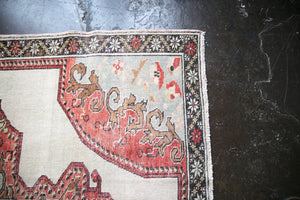 Vintage Faded Anatolian Turkish Rug 4.9x7.9ft