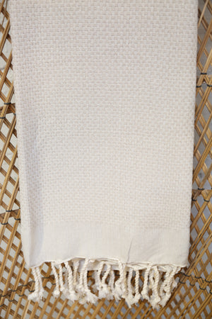 Honeycomb Pestemal Towel in Natural