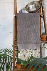 Honeycomb Pestemal Towel in Coffee