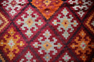Old Uzbek Kilim Runner 4ft x 19.5ft
