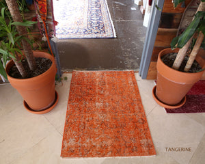 Vintage Mini Overdyed Turkish Rug 2.4ftx3.4ft