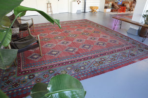 Old Turkish Oushak Kilim 13ftx13ft