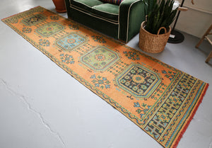 Konya Sille Turkish Runner Rug 3ftx11.4ft