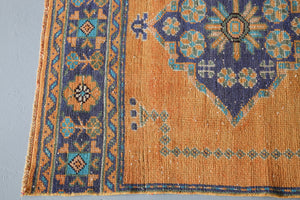 Vintage Konya Sille Turkish Runner Rug 3.2ftx11.2ft