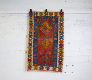 Turkish rug, vintage rug, flat weave, kilim rug, large area rug, square rug, Wild Shaman, Portland, Oregon, rug store, rug shop, local shop,  bright colors, area rug, red rug, bold color, antique