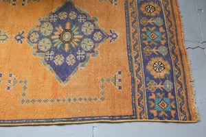 Vintage Konya Sille Turkish Runner Rug 3ftx11.2ft