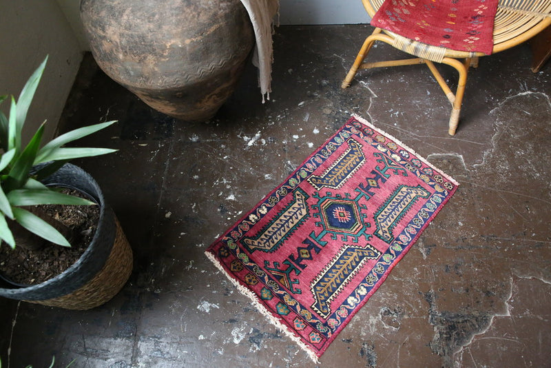 Old Mini Turkish Rug 1.7x2.9