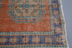 Vintage Konya Sille Turkish Runner Rug 4ftx11ft