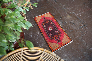 Old Mini Turkish Rug 1.5ftx3ft