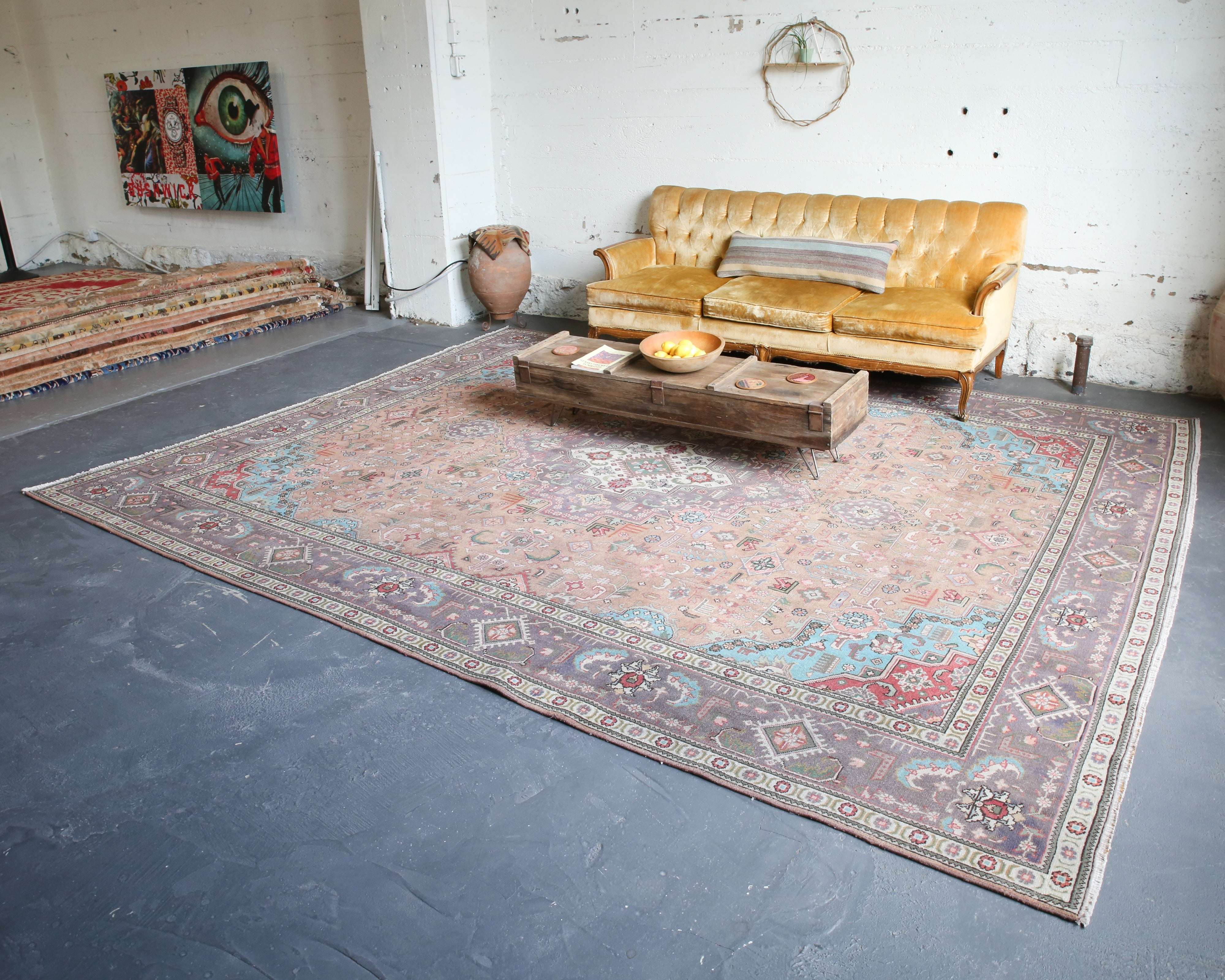 Old Persian Rug 10ftx12ft