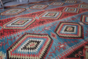 Old Oushak Esme Kilim 5.9ftx10.2ft