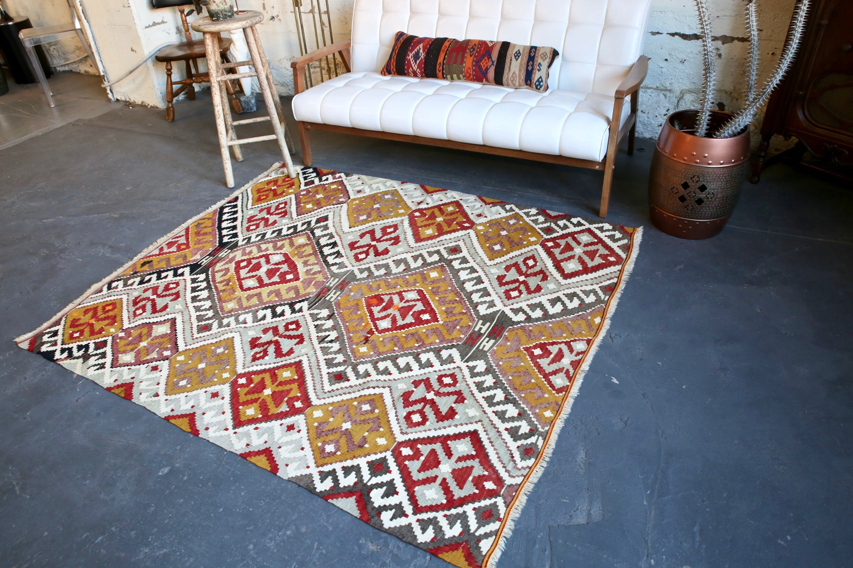Old Kirsehir Kilim 5.3ftx6ft
