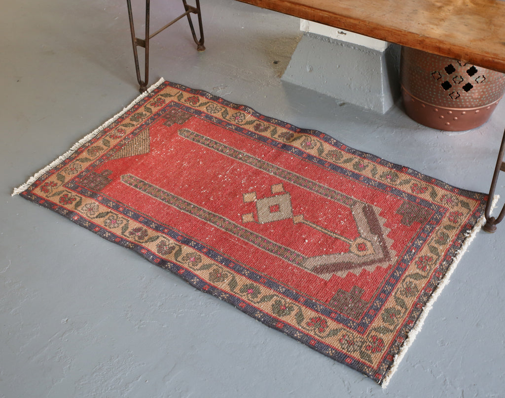 Vintage Mini Turkish Rug 2.5ftx4ft