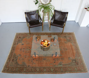 Old Turkish Anatolian Rug 6ftx8.6ft