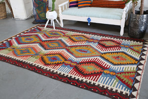 Old Denizli Cal Kilim 5.10ftx9.4ft