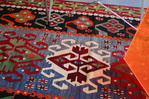 Old Oushak Esme Kilim 3.5ftx6ft