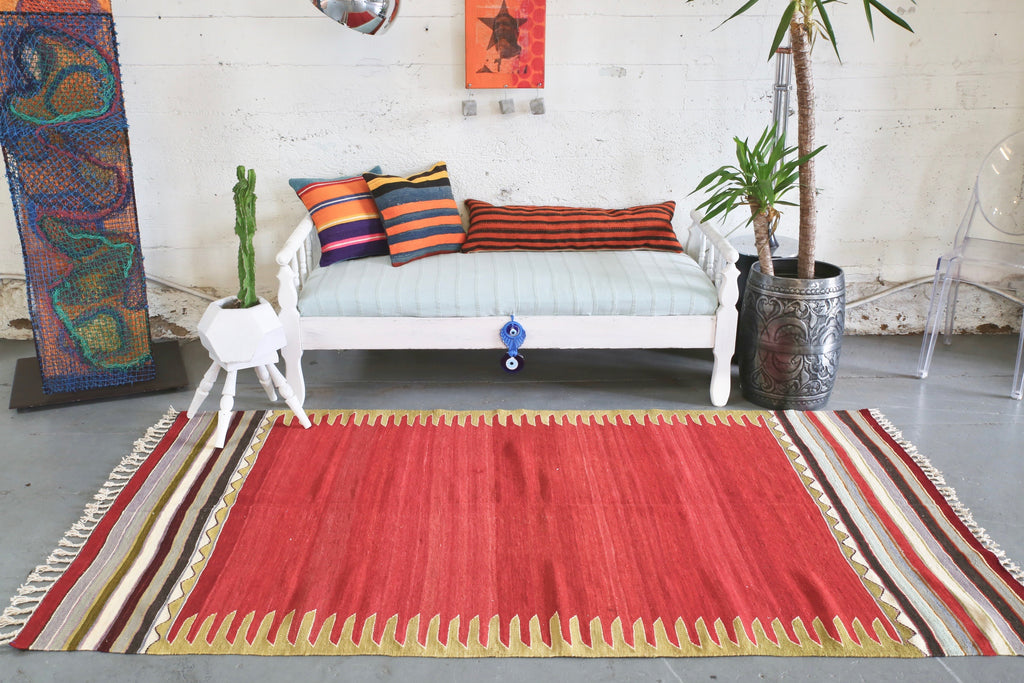 Old Bodrum Bos Kilim 4.4x8ft