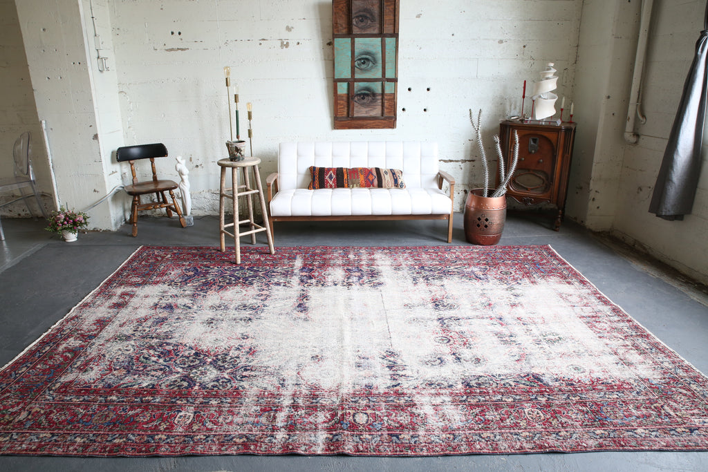 Old Demirci Oushak Rug 8ftx11.5ft