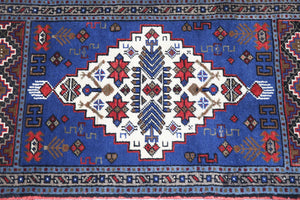 Vintage Mini Turkish Rug 21inx40in