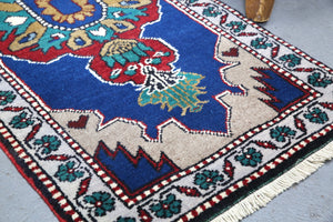 Vintage Mini Turkish Rug 1.9ftx4ft