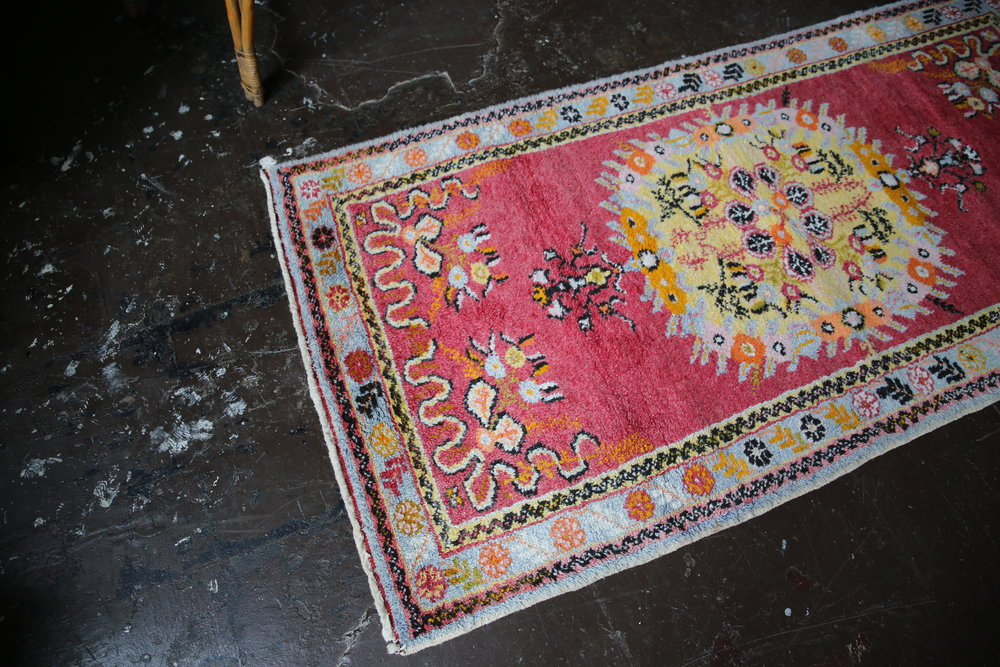 Vintage Turkish Southern Anatolian Rug 3ftx6.1ft