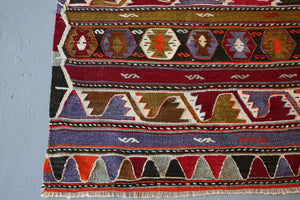 Old Konya Kilim Runner 3.6ftx10.8ft